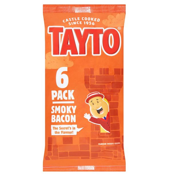 Tayto Smoky Bacon 6 x 25g offer at £1