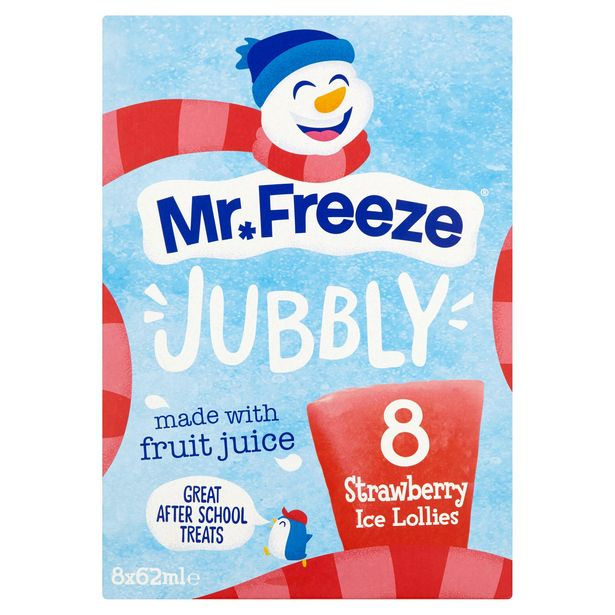 Mr. Freeze Jubbly Strawberry Ice Lollies 8 x 62ml offer at £1