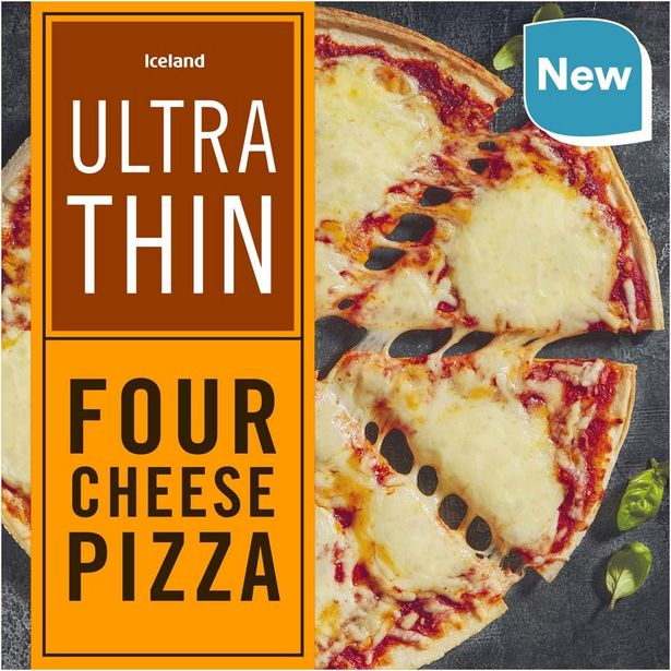 Iceland Ultra Thin Four Cheese Pizza 335g offer at £1.25