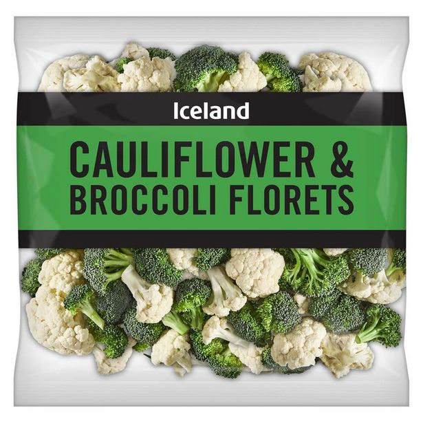 Iceland Cauliflower and Broccoli Florets 400g offer at £1.19