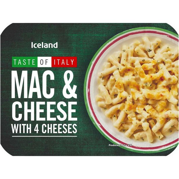 Iceland Mac & Cheese with 4 Cheeses 400g offer at £0.89