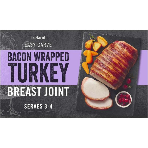 Iceland Bacon Wrapped Basted Turkey Breast Joint 525g offer at £3.5