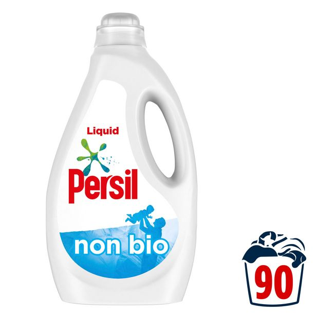 Persil Non Bio Washing Liquid Detergent 2.43 L 90 washes offer at £10