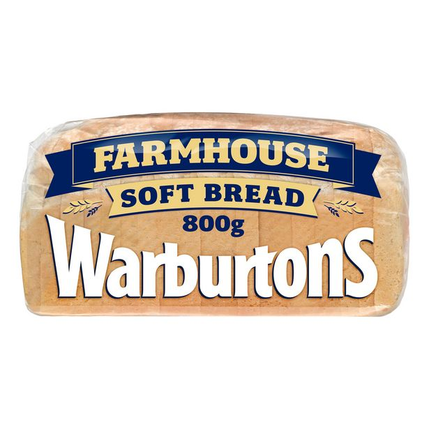 Warburtons Farmhouse Soft Bread 800g offer at £1.25