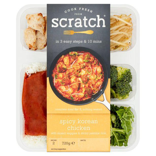 Scratch Spicy Korean Chicken Meal Kit 720g offer at £2