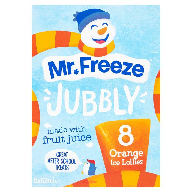Mr. Freeze Jubbly Orange Ice Lollies 8 x 62ml offer at £1