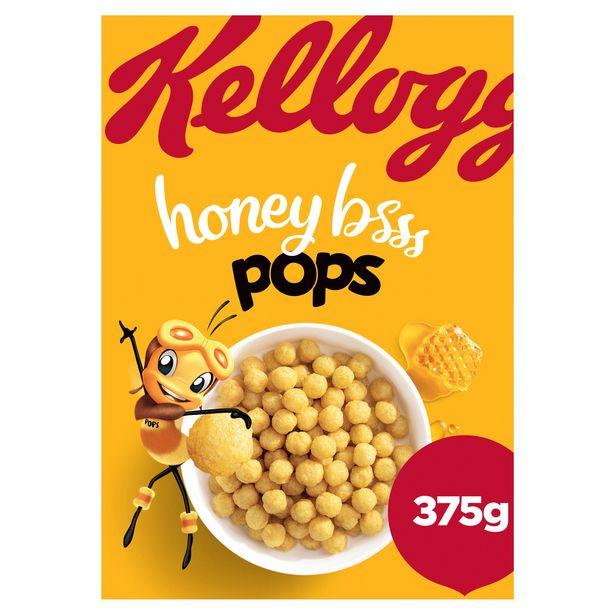 Kellogg's Honey Pops Cereal, 375g offer at £1
