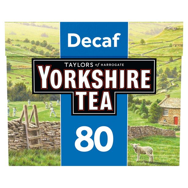 Taylors of Harrogate Yorkshire Tea Decaf 80 Tea Bags 250g offer at £2.5