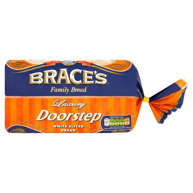 Brace's Family Bread Luxury Doorstep White Sliced Bread 800g offer at £1