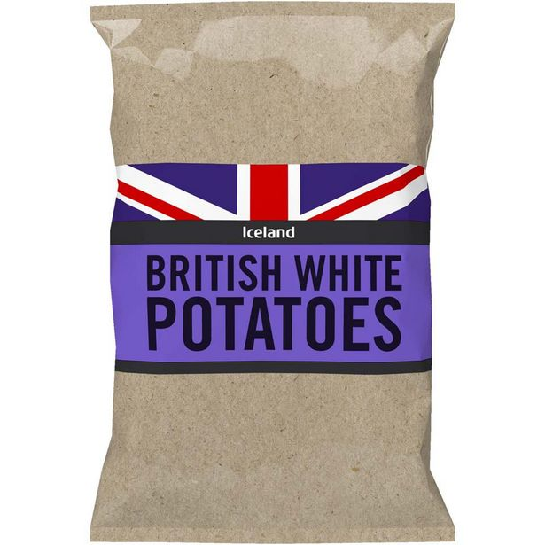 Iceland British White Potatoes 2kg offer at £1.2