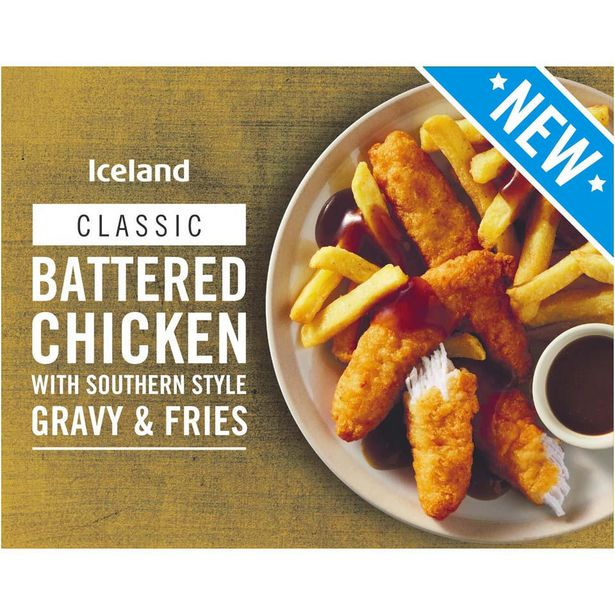 Iceland Battered Chicken With Southern Style Gravy and Fries 400g offer at £1.79
