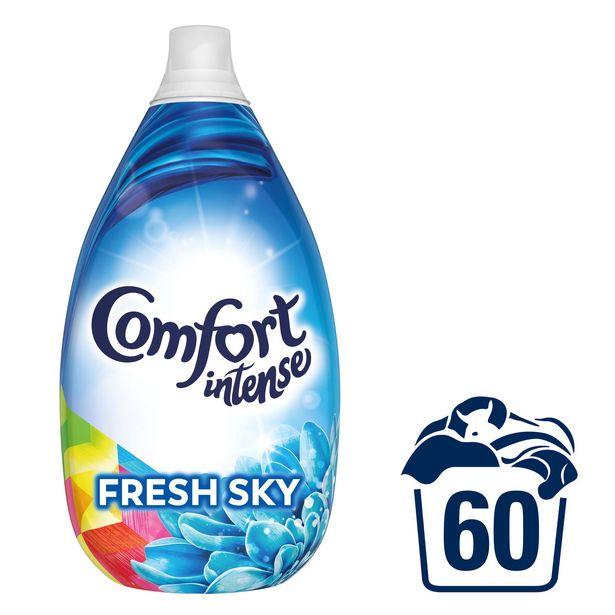 Comfort intense Fresh Sky Fabric Conditioner Liquid 60 Wash 900 ML offer at £5