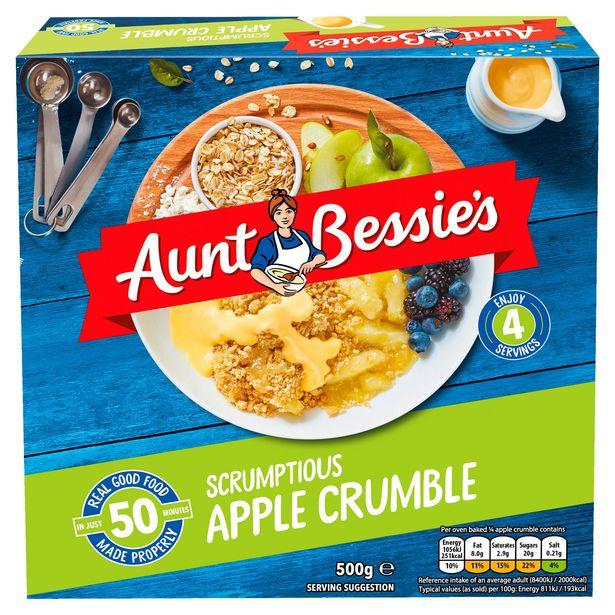 Aunt Bessie's Scrumptious Apple Crumble 500g offer at £1