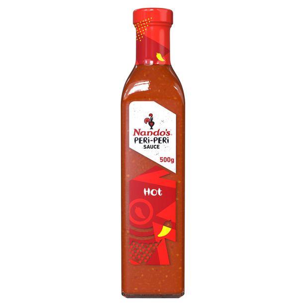 Nando's Peri-Peri Sauce Hot 500g offer at £3