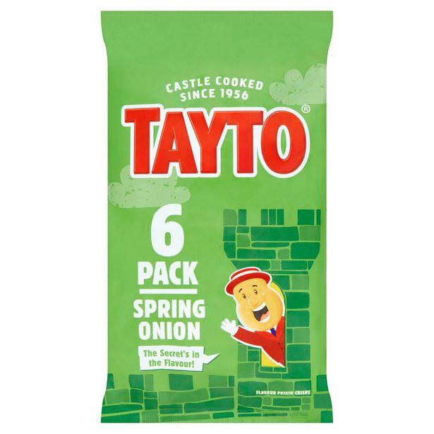 Tayto Spring Onion Flavour Potato Crisps 6 x 25g offer at £1