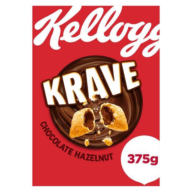 Kellogg's Krave Chocolate Hazelnut Cereal 375g offer at £2