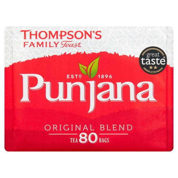 Thompson's Family Teas Punjana Original Blend 80 Tea Bags 250g offer at £2
