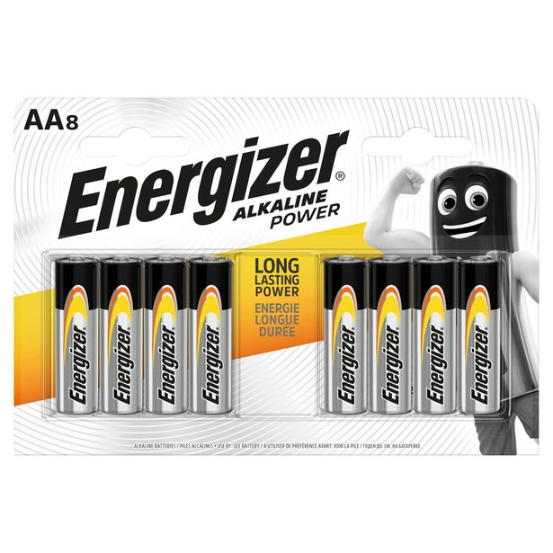 Energizer® Alkaline Power AA Batteries, 8 Pack offer at £3.5