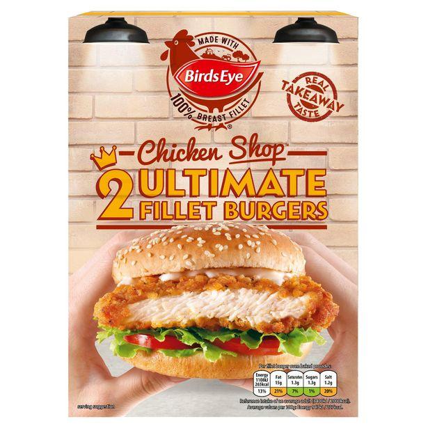 Birds Eye 2 Chicken Shop Ultimate Fillet Burgers 227g offer at £1.5