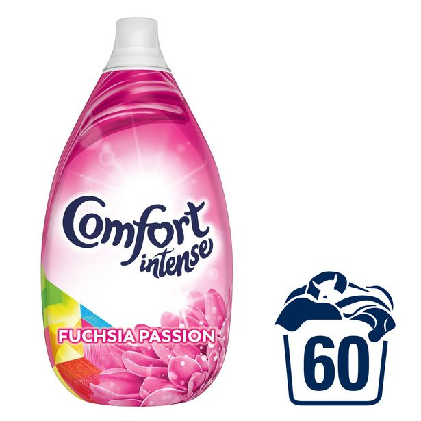 Comfort Intense Fuchsia Passion Fabric Softener Liquid 60 Wash 900 ML offer at £5