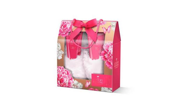 The Luxury Bathing Company Peony & Vetiver Slipper Gift Set offer at £6.49