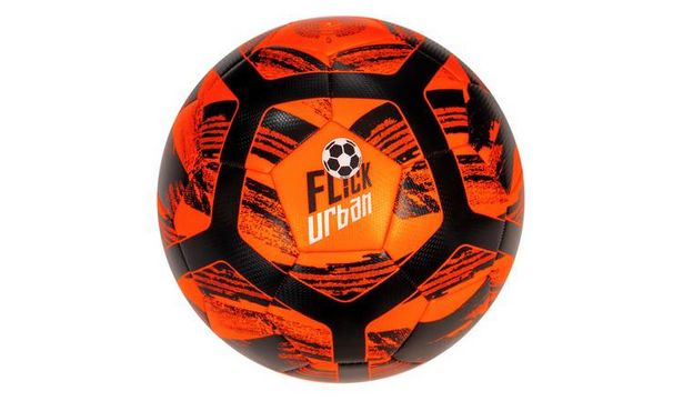 Football Flick Urban Size 5 Football - Orange and Black offer at £7.5