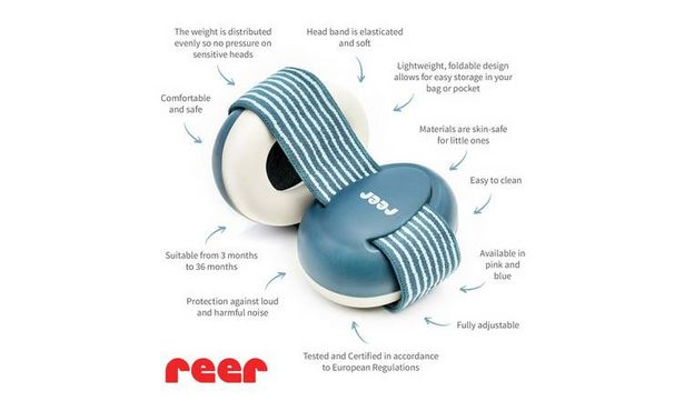 Reer SilentGuard Baby Capsule Ear Protectors - Blue offer at £5.99