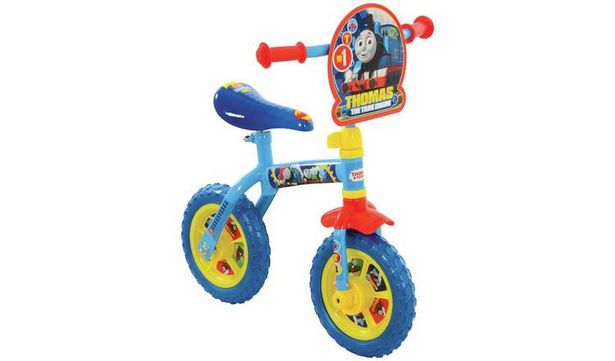Thomas & Friends 2 in 1 10 inch Wheel Size Kids Trainer Bike offer at £22.5