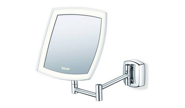 Beurer BS89 Illuminated LED Wall Mirror - Chrome. offer at £43.99