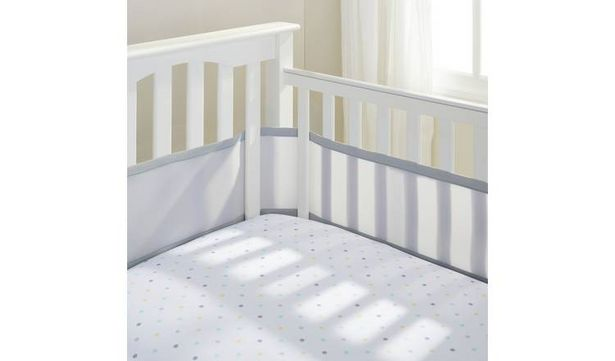 BreathableBaby 4 Sided Grey Mesh Liner offer at £6.99
