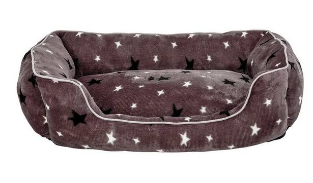 Stars Plush Square Bed - Large offer at £12.99