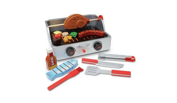 Melissa & Doug Deluxe Wooden Barbecue Play Set offer at £32