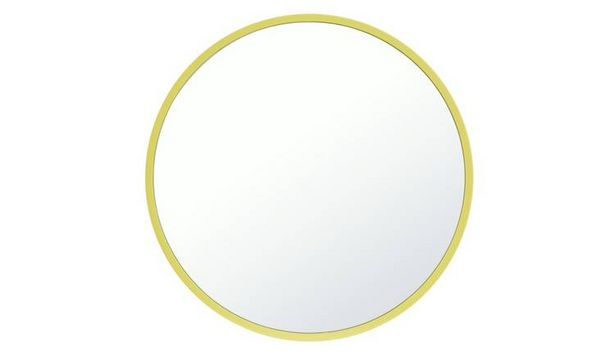 Argos Home Brights Round Wall Mirror - Lime offer at £12.99