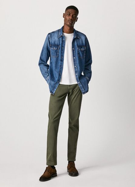 CHARLY SLIM CHINO TROUSERS offer at £70