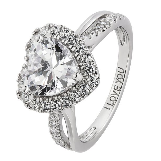 Revere Sterling Silver Cubic Zirconia Twist Shoulder Ring offer at £19.99