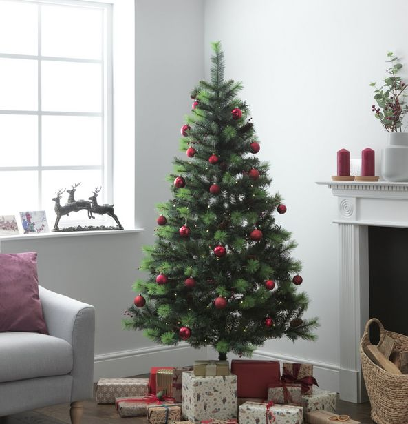 Argos Home 6ft Berry and Cone Christmas Tree - Green offer at £30