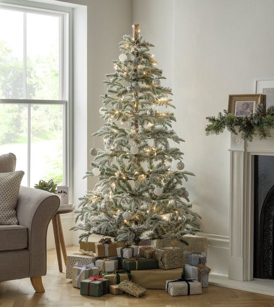 Argos Home 6ft Snowy Natural Cluster Christmas Tree - Green offer at £52.5