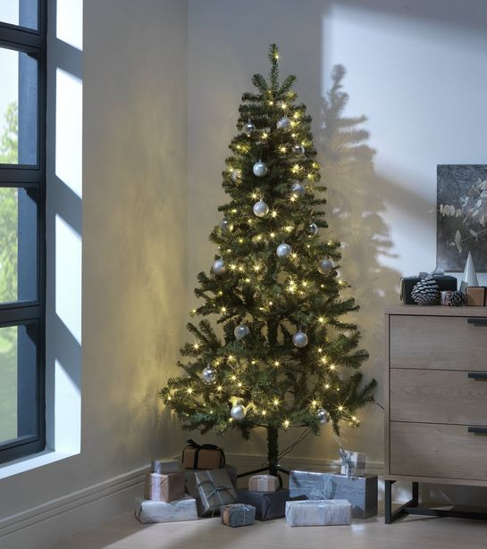Argos Home 6ft Pre-Lit Half Christmas Tree - Green offer at £22.5