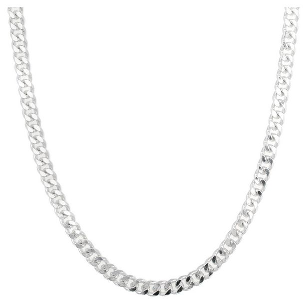 Revere Sterling Silver Solid Curb 20 Inch Chain offer at £44.99