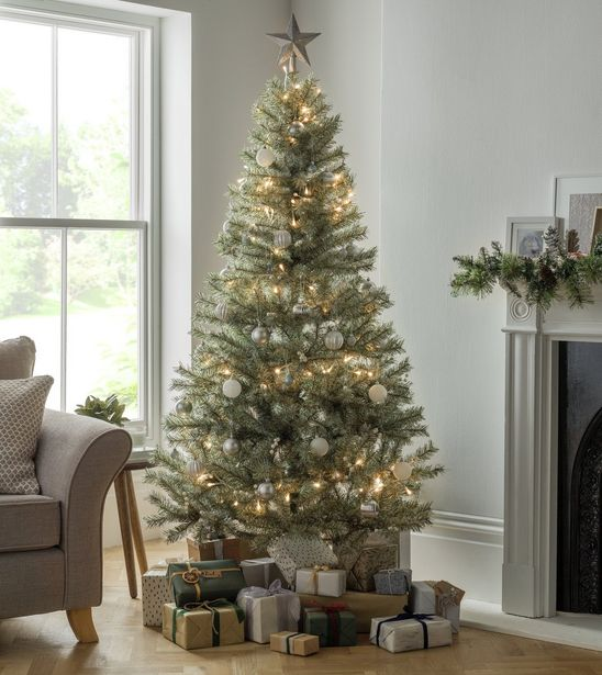 Argos Home 6ft Snowy Mixed Frost Christmas Tree - Green offer at £15