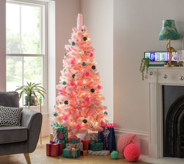 Argos Home 6ft Cashmere Artificial Christmas Tree - Pink offer at £48.75