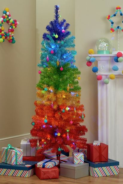 Argos Home Rainbow Christmas Tree - 5ft offer at £26.25