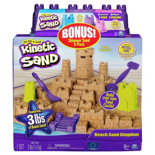 Kinetic Sand Beach Sand Kingdom & Shimmering Sand Multipack offer at £15