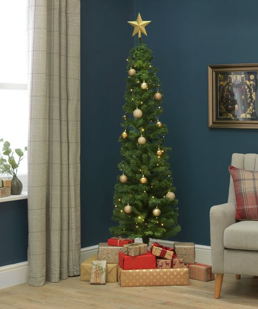 Argos Home 6ft Pencil Christmas Tree - Green offer at £15