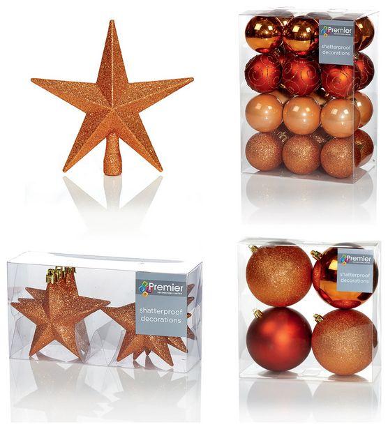 Premier Decorations 35 Piece Luxury Decoration Set - Copper offer at £31.5