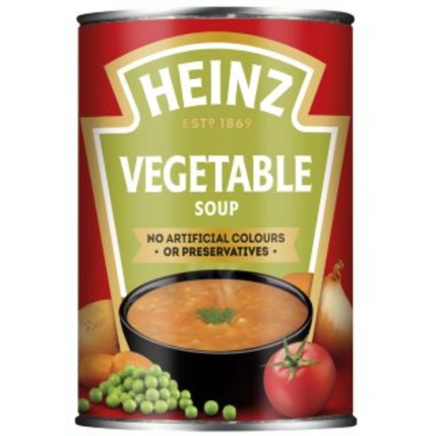 Heinz Vegetable Soup 400g offer at £0.89