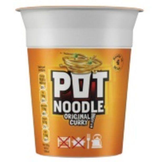Pot Noodle Original Curry Flavour 90g offer at £0.6