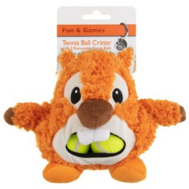 Tennis Ball Critter Dog Toy - Squirrel offer at £4