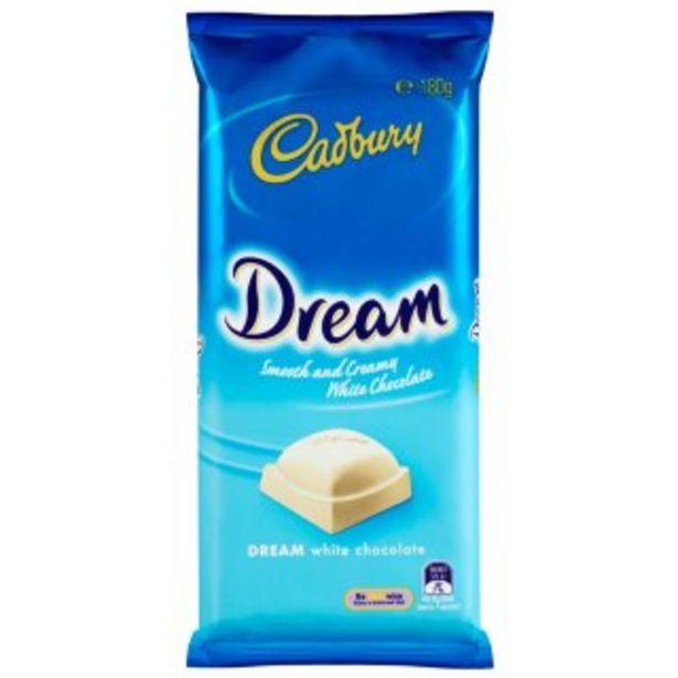Cadbury Dream White Chocolate 180g offer at £2.99