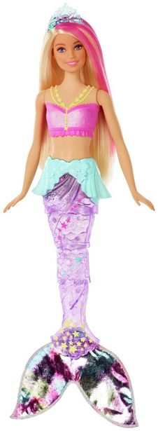 Barbie Dreamtopia Sparkle Lights Mermaid Doll offer at £12.5